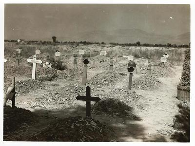 1944, location unknown. Photo taken by Edwin P. Schmid on the way from San Pan to Rome