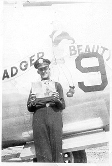 Dad W.R.Davis  with Badger Beauty