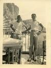 Ed (on left) at the Isle of Capri during WW2