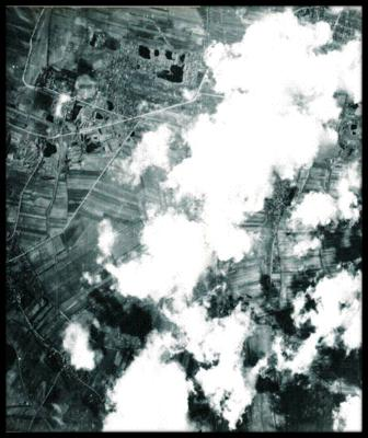 March 15, 1945 - Target: Schwechat Oil Refinery near Vienna, Austria.  Flying over a residential section of Vienna towards the target.